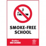 Prohibition Safety Sign - (QLD) Smoke Free School