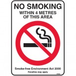 Prohibition Safety Sign - (NSW) No Smoking Within 4 Metres Of This Area