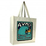 Carbon Zero Bags Avoca Beach Printed Calico Bag 10oz with Web Handle - 50x50x20cm