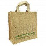 Carbon Zero Bags Printed Jute Bag with Web Handle - 25x25x10cm