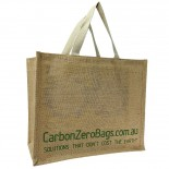 Carbon Zero Bags Printed Jute Bag with Web Handle - 30x36x19cm