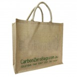 Carbon Zero Bags Printed Jute Bag with Padded Handle - 36x40x18cm
