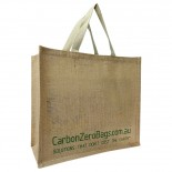 Carbon Zero Bags Printed Jute Bag with Web Handle - 36x40x18cm