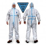 Trident Microporous + Taped Seams White Disposable Coveralls