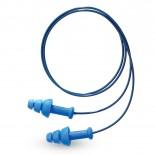 Howard Leight SMARTFIT - Multiple-Use Detectable Corded Blue Earplugs