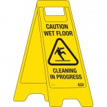 "A-Frame Sign ""Caution Wet Floor"""
