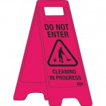 "A-Frame Sign ""Do Not Enter Cleaning in Progress"""