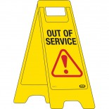"""A-Frame Sign """"Out of Service"""""""