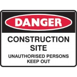 Danger Safety Sign - Construction Site