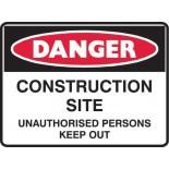 Danger Safety Sign - Construction Site
