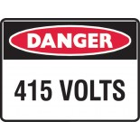 Danger Safety Sign - 415 VOLTS