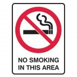 Prohibition Safety Sign - No Smoking In This Area