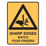 Warning Safety Sign - Sharp Edges