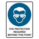 Super Safety Sticker - Eye Protection Required
