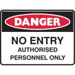 Super Safety Sticker - Danger No Entry