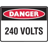 Super Safety Sticker -  Danger 240 Volts