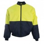 Super Safety Hi Vis Flying Jacket - Yellow / Navy