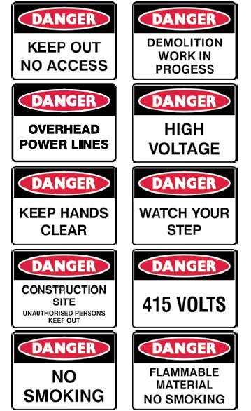Danger Sign Range