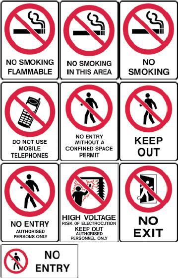 Prohibition Sign Range