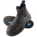 Steel Blue Work Boots - HOBART Slip On - Black
