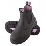 Steel Blue Work Boots - HOBART Slip On - Ladies Non Safety