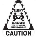 Sticker Caution Bulky 250 / Roll