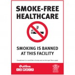 Prohibition Safety Sign - (QLD) Smoke-Free Healthcare Smoking Is Banned At This Facility