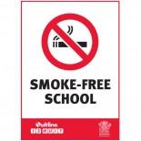 Prohibition Safety Sign - (QLD) Smoke Free School