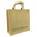 Carbon Zero Bags Printed Jute Bag with Web Handle - 25x25x10cm
