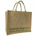 Carbon Zero Bags Printed Jute Bag with Padded Handle - 30x36x19cm