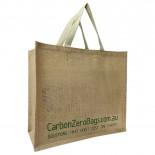 Carbon Zero Bags Printed Jute Bag with Web Handle - 36x40x18cm
