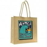 Carbon Zero Bags Avoca Beach Eco Bag Print Jute Bag with Padded Handle - 50x50x20cm