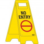 "A-Frame Sign ""No Entry"""