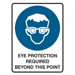Mandatory Safety Sign - Eye Protection Required