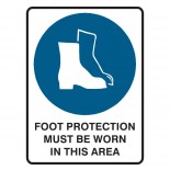 Mandatory Safety Sign - Foot Protection Must Be Worn