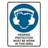 Mandatory Safety Sign - Hearing Protection Must Be Worn