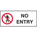 Prohibition Safety Sign - No Entry