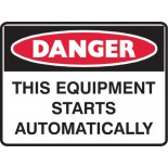 Super Safety Sticker - Danger Equipment Starts