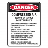 Super Safety Sticker - Compressed Air