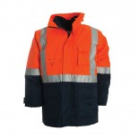 4 in 1 Combo Waterproof Jacket - Orange / Navy