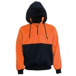 Super Safety Hi Vis Windcheater Hoodie - Orange / Navy
